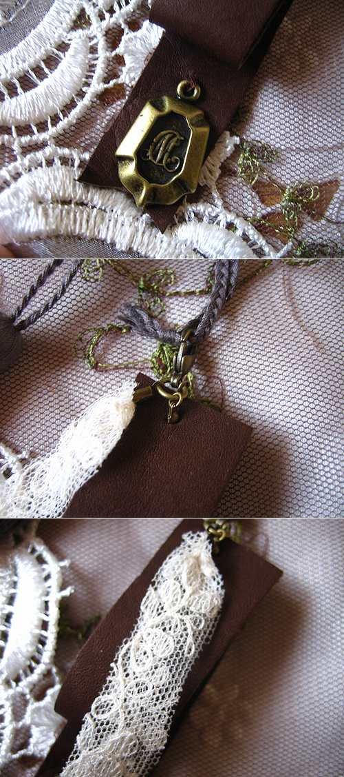 アロマドミュゲ(arome de muguet) パスマントリー ブーケ付タッセル&レザー付タッセルの商品写真3