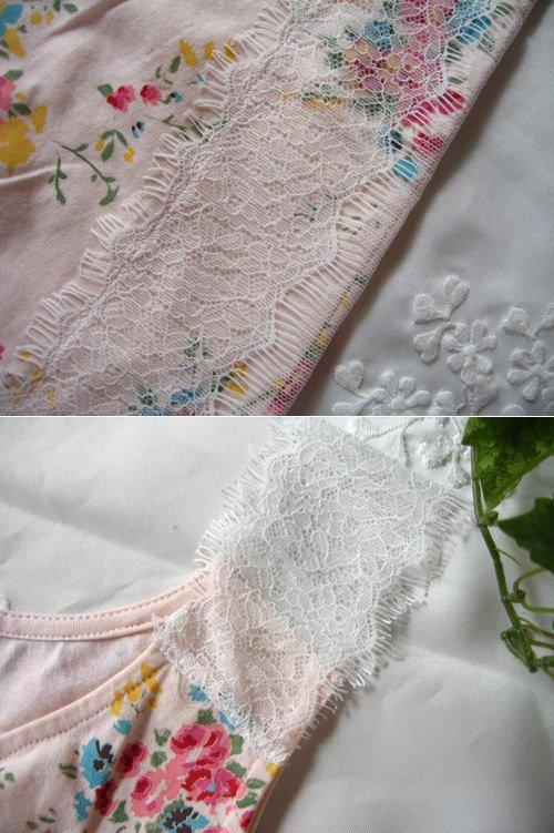 s.t.closet frabjous レースショルダー花柄タンクトップ ピンクの商品写真4