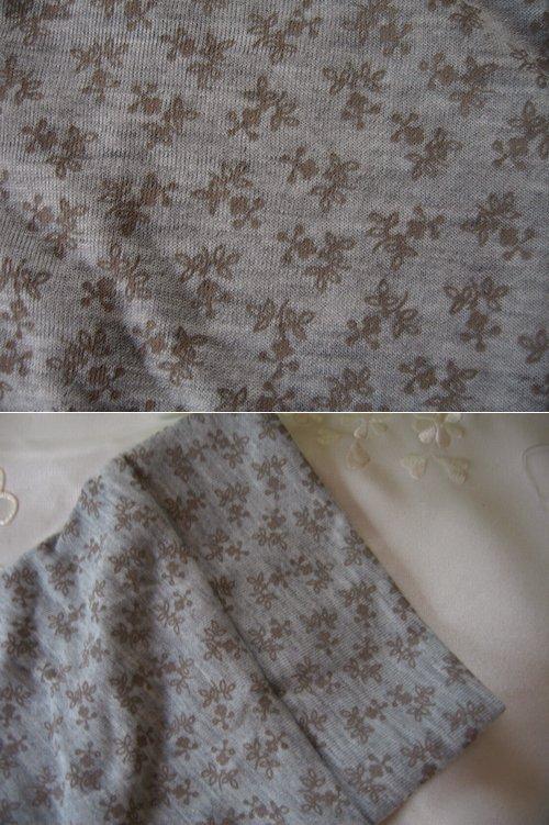 マシュカシュ 花柄七分袖パーカー グレーの商品写真4
