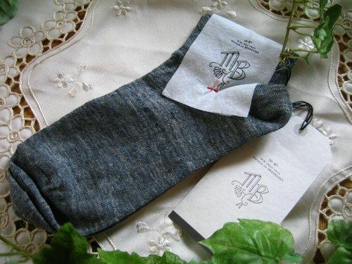 エムビー(Marque de BRODEUSES,シュシュドママン) Linen Sox  ショートソックスの商品写真です