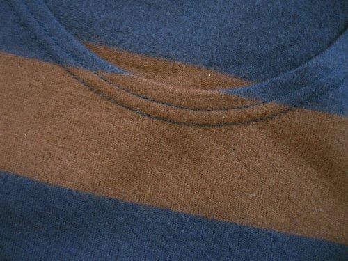 NARU ウールボーダーワンピース ブラウン×ブルーの商品写真5