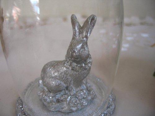 うさぎガラスドームの商品写真2