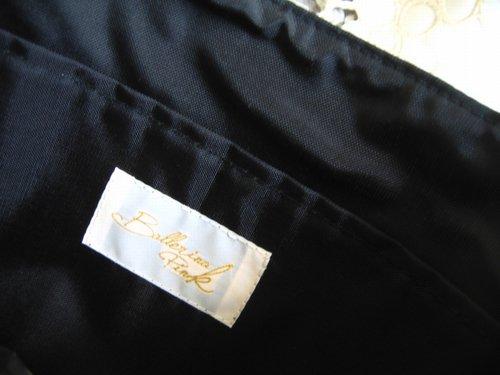 バレリーナピンク ラメツィードボーダー りぼんバッグの商品写真4