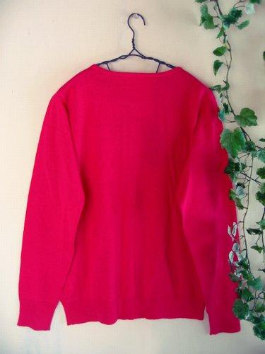 マシュカシュ カラーカーディガン ピンクの商品写真2