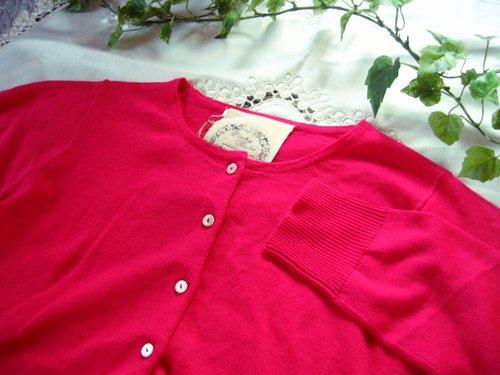 マシュカシュ カラーカーディガン ピンクの商品写真4