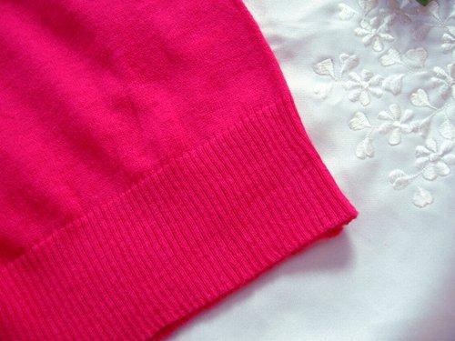 マシュカシュ カラーカーディガン ピンクの商品写真7