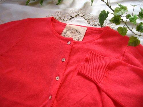 マシュカシュ カラーカーディガン オレンジピンクの商品写真4
