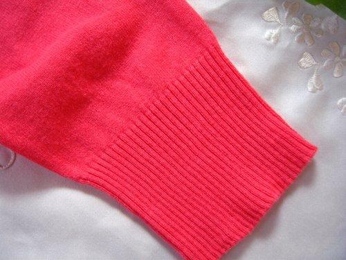 マシュカシュ カラーカーディガン オレンジピンクの商品写真6