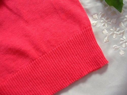 マシュカシュ カラーカーディガン オレンジピンクの商品写真7