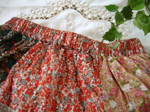 s.t.closet frabjous 総花柄パッチワークスカート ベージュ〜オレンジ系の商品写真3