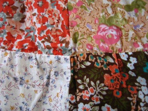 s.t.closet frabjous 総花柄パッチワークスカート ベージュ〜オレンジ系の商品写真4