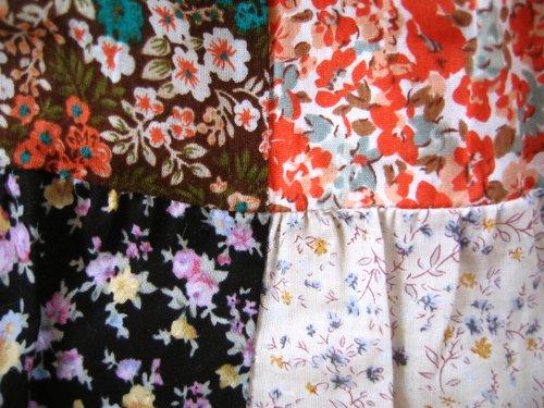 s.t.closet frabjous 総花柄パッチワークスカート ベージュ〜オレンジ系の商品写真5