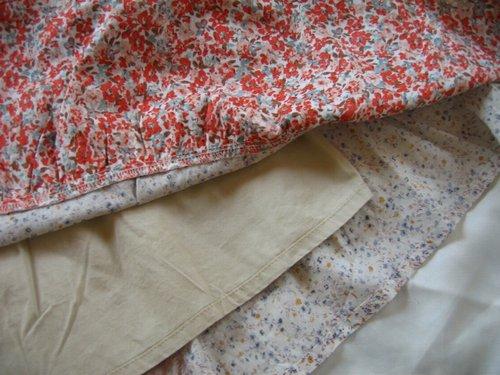 s.t.closet frabjous 総花柄パッチワークスカート ベージュ〜オレンジ系の商品写真6