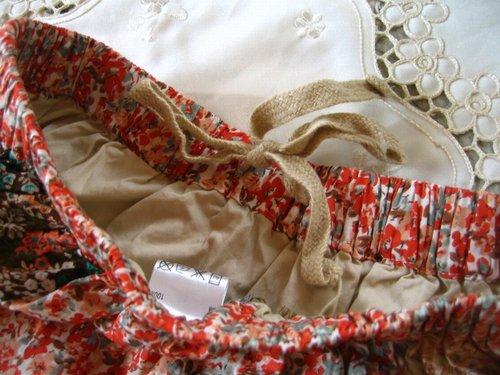 s.t.closet frabjous 総花柄パッチワークスカート ベージュ〜オレンジ系の商品写真7