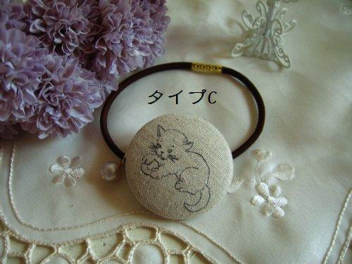 バレリーナピンク プチパール付きヘアゴムの商品写真6