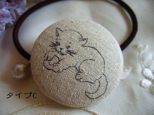 バレリーナピンク プチパール付きヘアゴムの商品写真7
