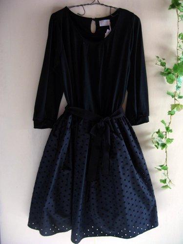 バレリーナピンク タフタエンブロイダリースカートドレスの商品写真2