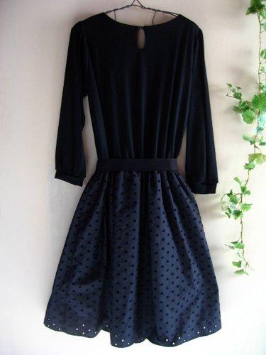 バレリーナピンク タフタエンブロイダリースカートドレスの商品写真3