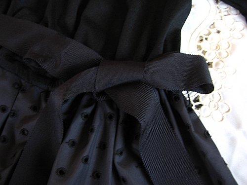 バレリーナピンク タフタエンブロイダリースカートドレスの商品写真7
