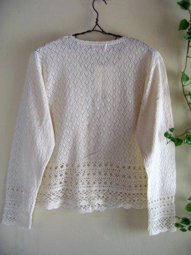 マーリア バドローズ 透かし編みコットンカーデの商品写真2