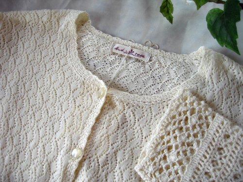 マーリア バドローズ 透かし編みコットンカーデの商品写真4