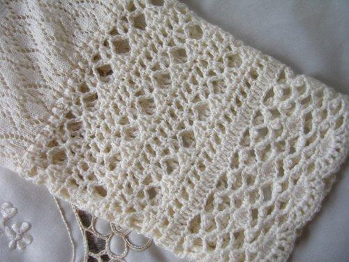 マーリア バドローズ 透かし編みコットンカーデの商品写真6