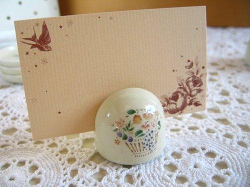 マニー プロヴァンス 陶器 メモスタンド丸の商品写真です
