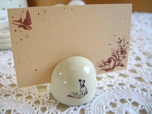 マニー プチメゾン 陶器 メモスタンド丸(2柄)の商品写真2