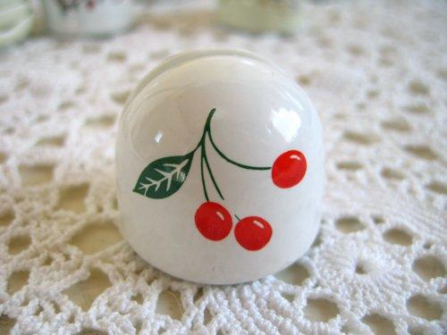 マニー チェリー 陶器 メモスタンド丸の商品写真2