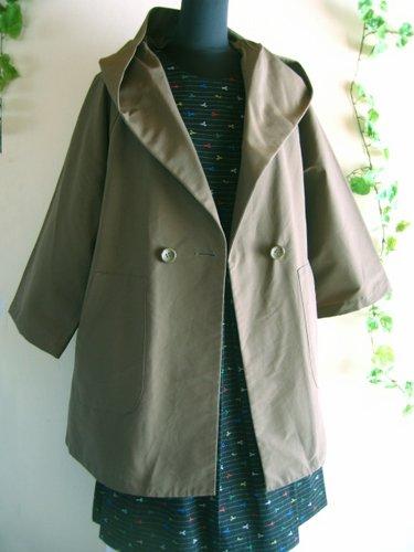 バレリーナピンク グログランビッグフードコートの商品写真3
