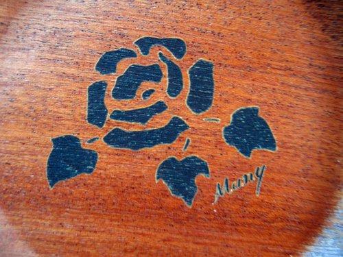 マニー ローズ ウッド 彫刻コースターの商品写真4