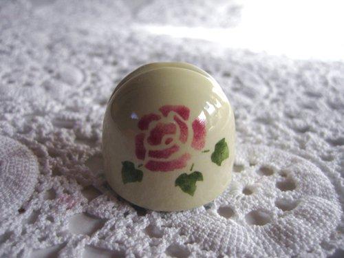 マニー ローズ 陶器 メモスタンド丸の商品写真2