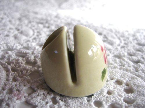 マニー ローズ 陶器 メモスタンド丸の商品写真3