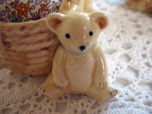 マニー プチメゾン 陶器 ピンクッション くまAの商品写真2
