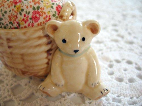 マニー プチメゾン 陶器 ピンクッション くまBの商品写真2