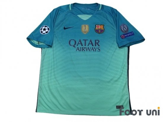 バルセロナ(FC Barcelona)16 17 3RD #11 ネイマールJR(Neymar JR) USEDサッカーユニフォーム専門店 Footuni フッットユニ
