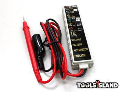 【送料無料/ネコポス発送】簡単にチェック!12Vバッテリー&オルタネーターチェッカー