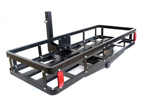 アルミ製 ブラック コンパクトタイプ折り畳み式ヒッチキャリアカーゴ C07