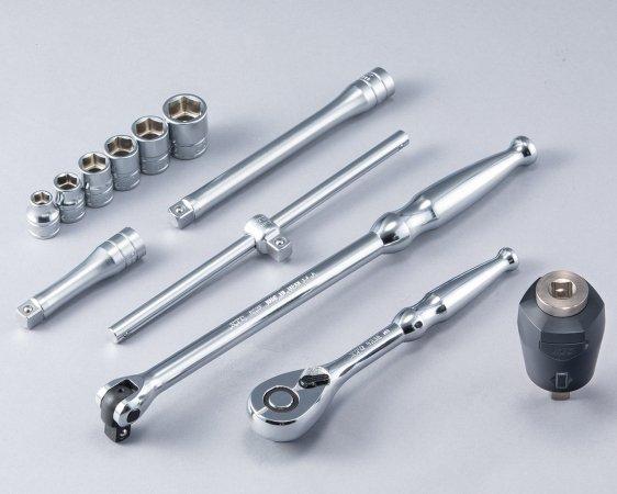 KTC(京都機械工具) 9.5sq.ソケットレンチセット トルクルモデル[12点]