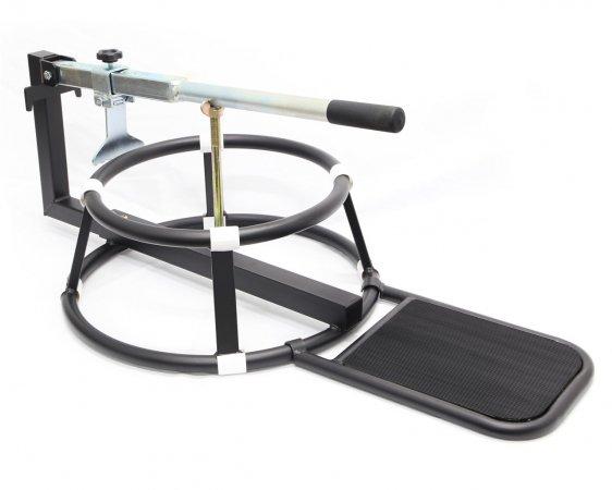 バイク用ビードブレーカー付 手動式 タイヤチェンジャー 16〜21インチ タイヤ落とし
