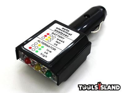 【送料無料/レターパック発送】簡易シガーソケット用12Vバッテリー・オルタネーターチェッカー