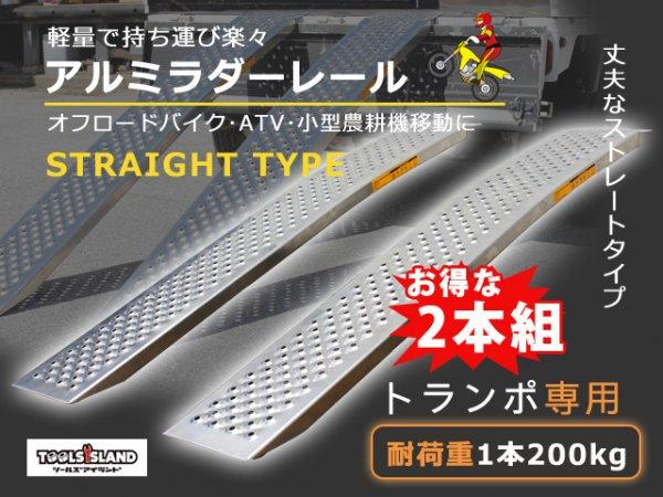 処分特価 超軽量アルミラダーレール スロープ・ブリッジ最大荷重200kg【2本入り】