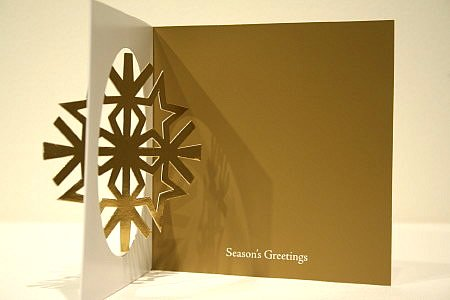 クリスマスカード ニーマンマーカス 雪の結晶☆