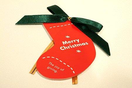 クリスマスラッピング  長靴型ワイヤー&透明袋 1枚入り