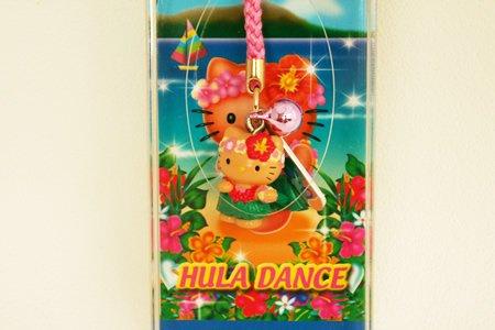 ハワイ限定 ハローキティ(Hello Kitty) ストラップ フラダンス 送料無料!