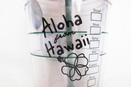 日本未発売!!ハワイ限定スターバックス ロゴコールドカップタンブラー