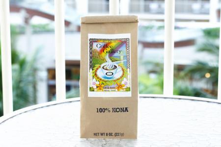 ハワイ ハレイワ コーヒーギャラリー 100%コナ 豆タイプ(Hawaii Coffee Gallery 100% KONA Whole Bean)