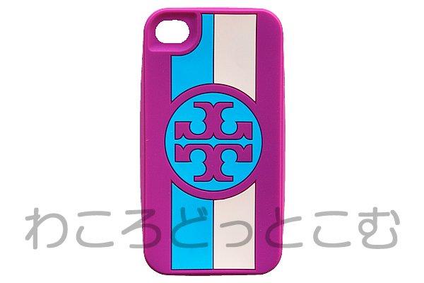 本物 トリーバーチ(Tory Burch) ロズリン シリコン iPhone4ケース ピンク