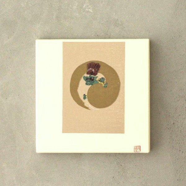 芸艸堂 木版画パネル 雷公(秋)