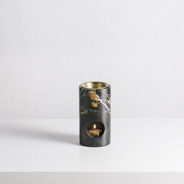 オイルバーナー 黒大理石